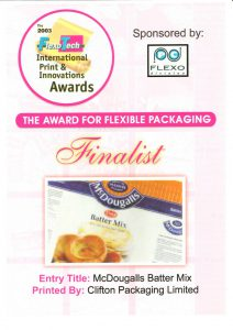 The 2003 FlexoTech International Print & Innovations Awards - Award for Flexible Packaging
