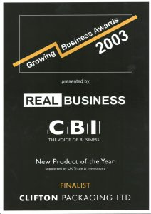 Growing Business Awards 2003 New Product of the Year