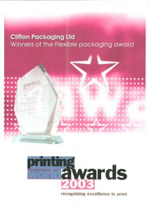 Printing World Awards 2003 Winners of the Flexible Packaging Awards