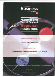 National Business Awards 2004 - The Business innovation of the Year Awards