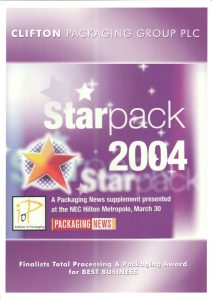 StarPack 2004 Total Processing & Packaging Awards for Business