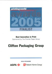 Printing World - Championing excellence in Print Award 2005