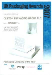UK Packaging Awards 2007 - Finalist Packaging Company of the Year