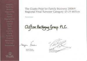 The Coutts Prize for Family Business 2008/09