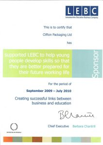 Certify Support LEBC to Help Young People