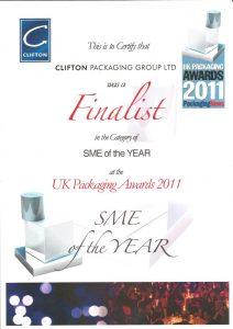SME of the Year - UK Packaging Awards