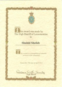 The High Sheriff of Leicestershire