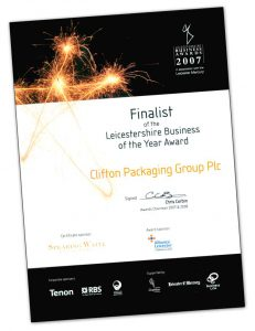 Finalist of the Leicestershire Business of the Year Award