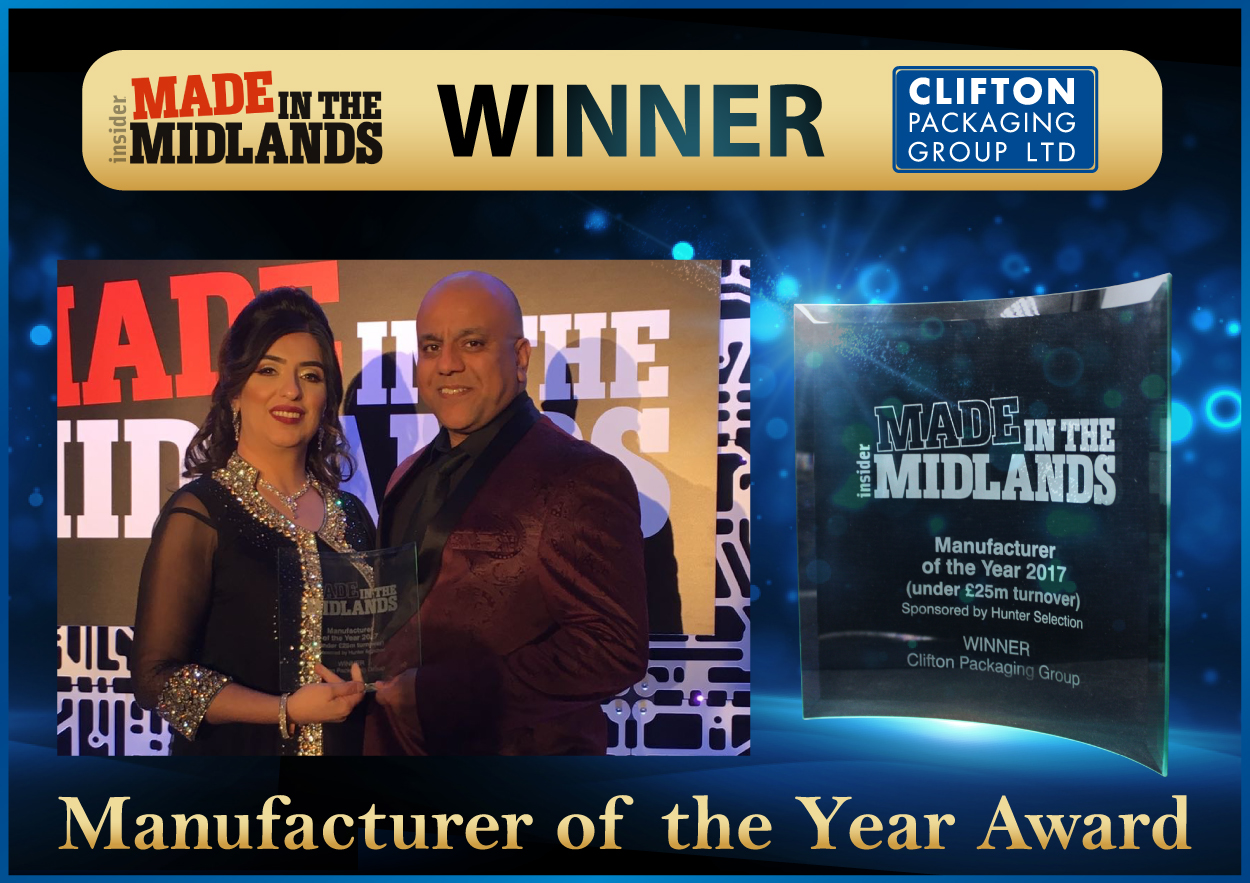 Made in the Midlands - WINNER - Shahid Sheikh OBE, Clifton Packaging Group Ltd.