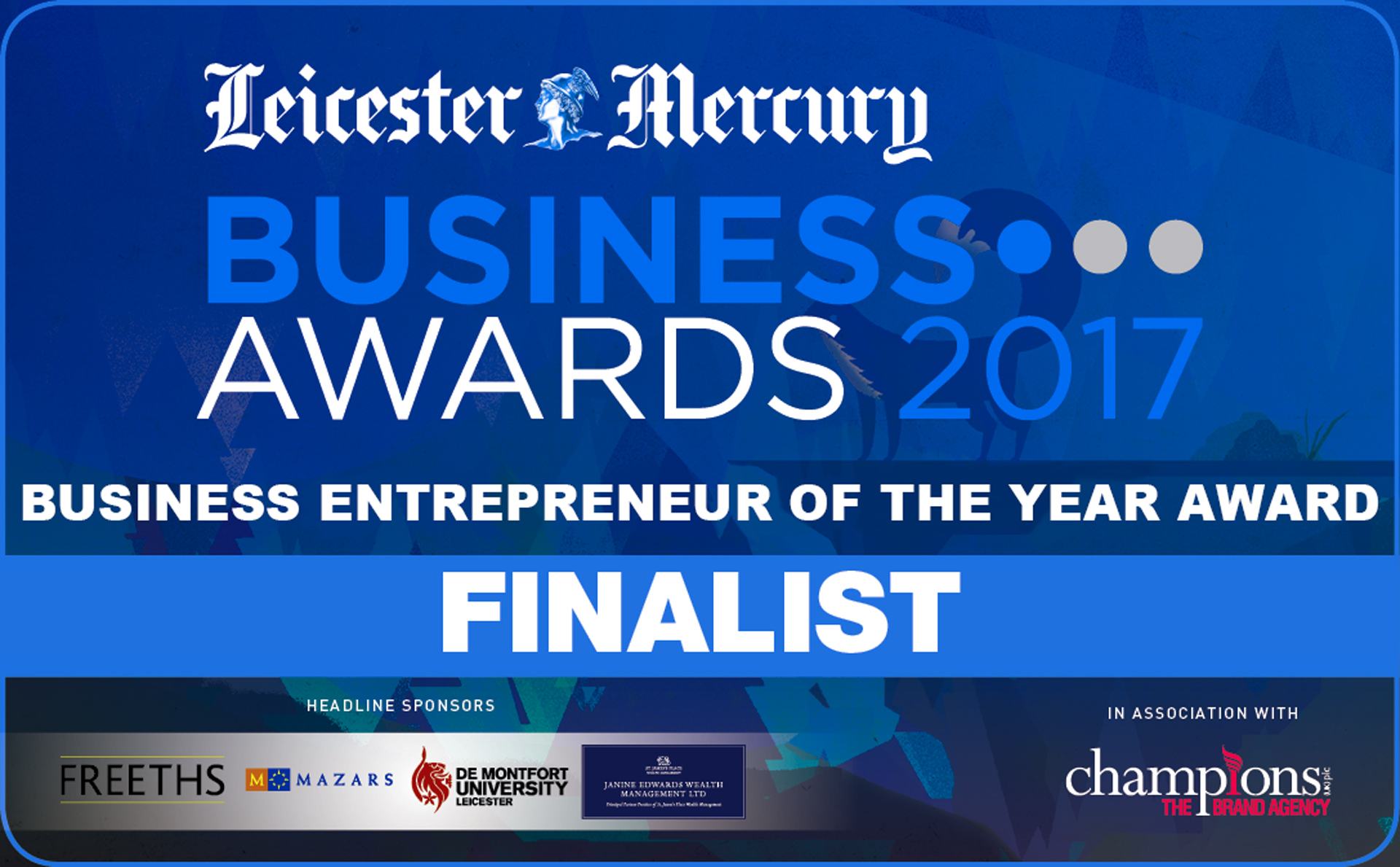 BUSINESS ENTREPRENEUR OF THE YEAR 2017