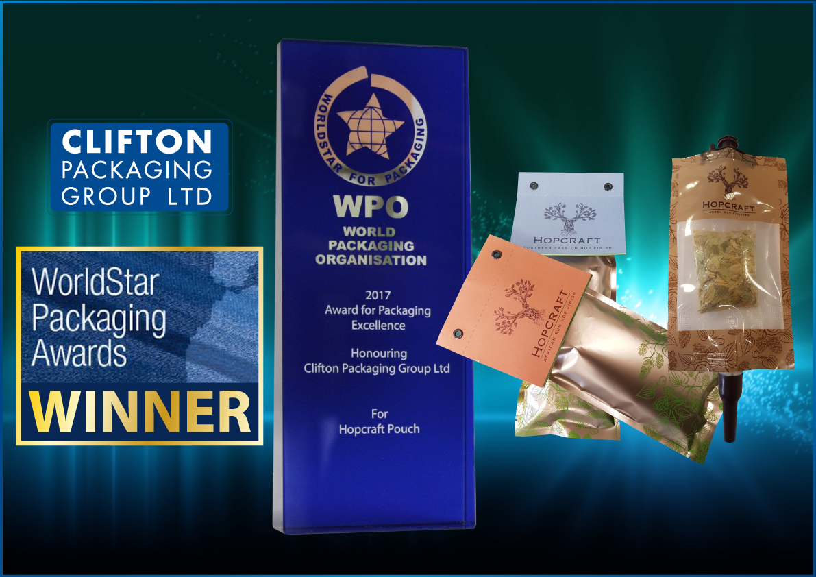 World Star Packaging Awards 2017, Clifton Packaging Group LTD.  World Packaging Organisation. Flexible Packaging, Packaging