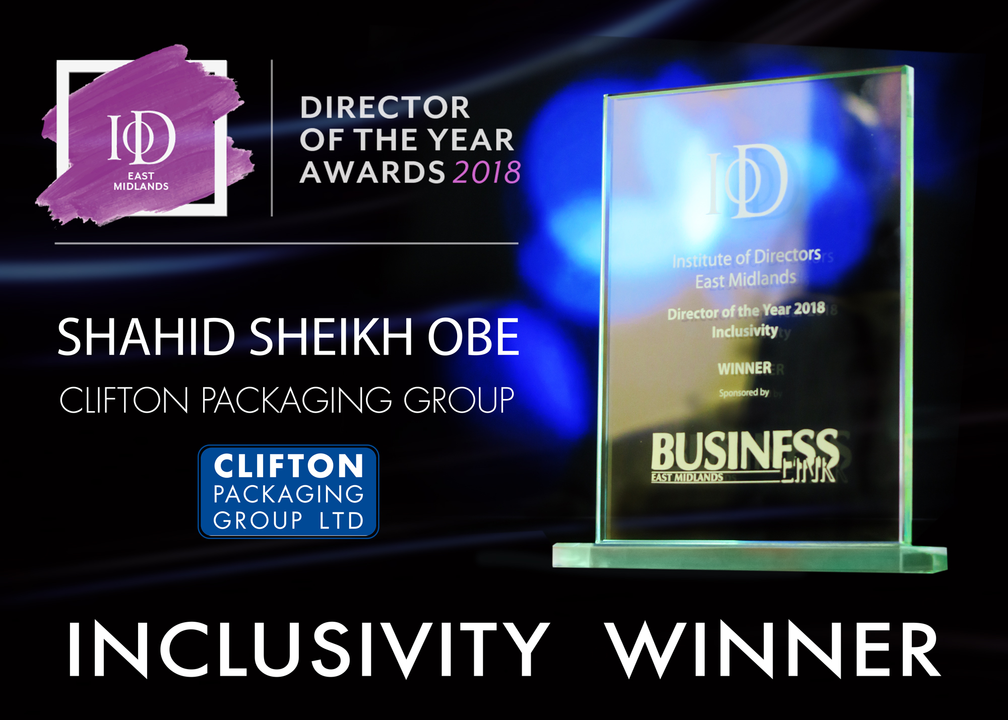 IoD - Director of the Year Awards 2018 - Inclusivity Winner