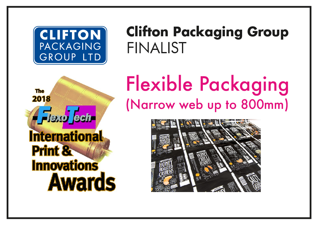 2018 FlexoTech International Print & Innovation Awards Flexible Packaging (Narrow Web upto 800mm)