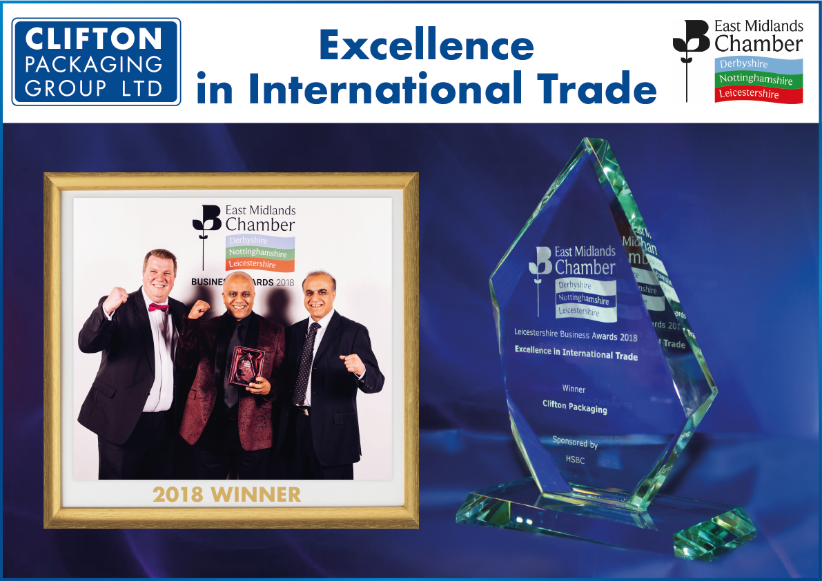 East Midlands Chambers Business Awards 2018 Winners Excellence in International Trade