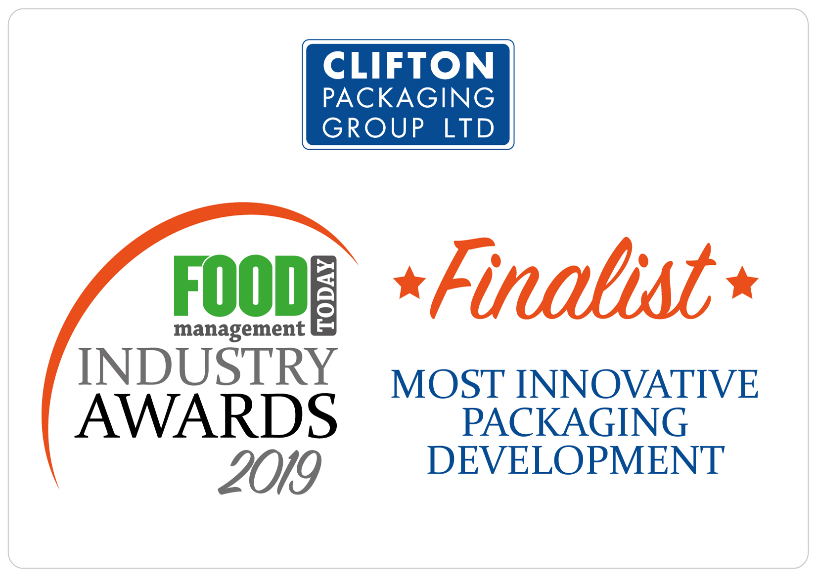 FMT-Industry Awards 2019 Finalist, Most Innovative Packaging Development