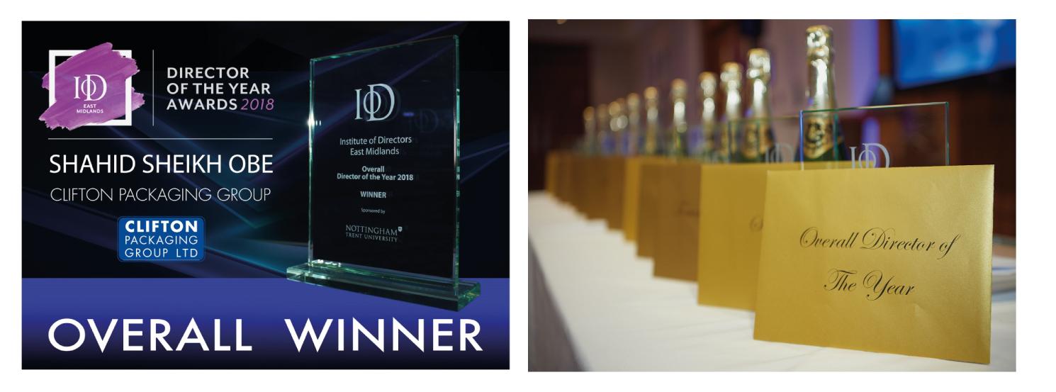 Shahid Sheikh OBE announced winner for IoD East Midlands 2018 Awards