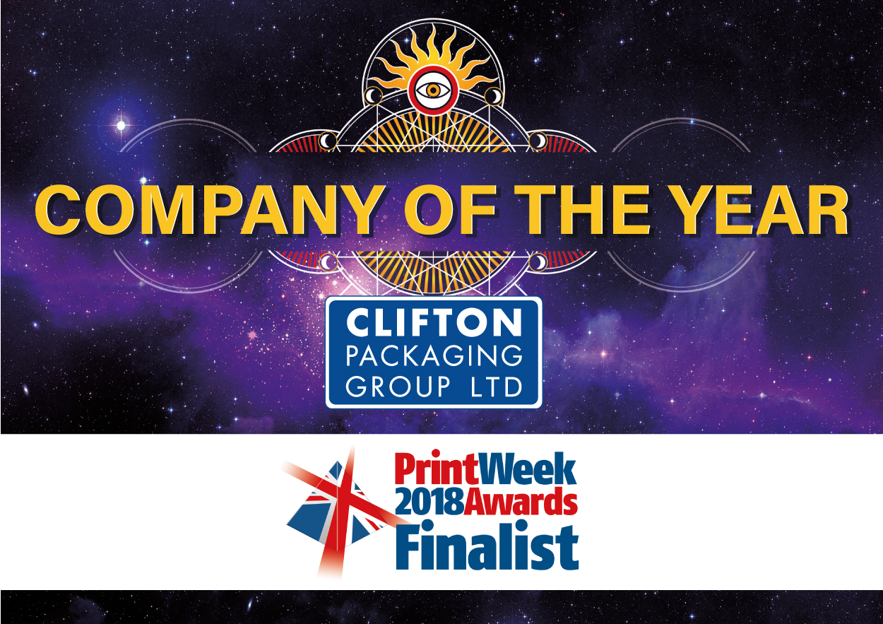 Print Week 2018 Awards Finalist, Company of the Year, Clifton Packaging Group