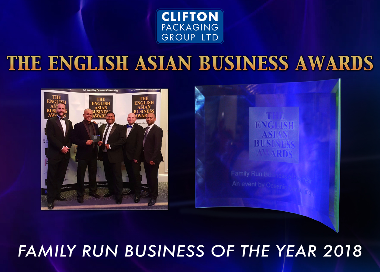 The English Asian Business Awards, Family Run Business of the Year 2018, Clifton Packaging Group