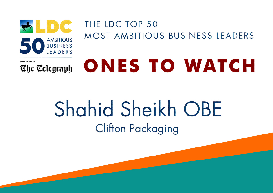 The LDC Top 50 Most Ambitions Business Leaders Shahid Sheikh OBE