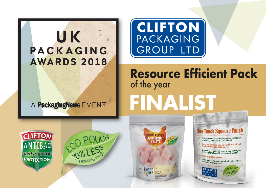 UK Packaging Awards 2018 Resource Efficient Pack Finalist