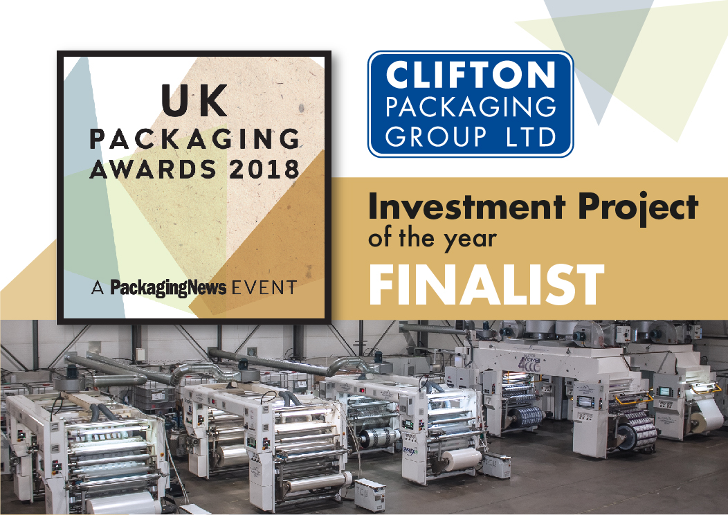 UK Packaging Awards 2018 Investment Project Finalist