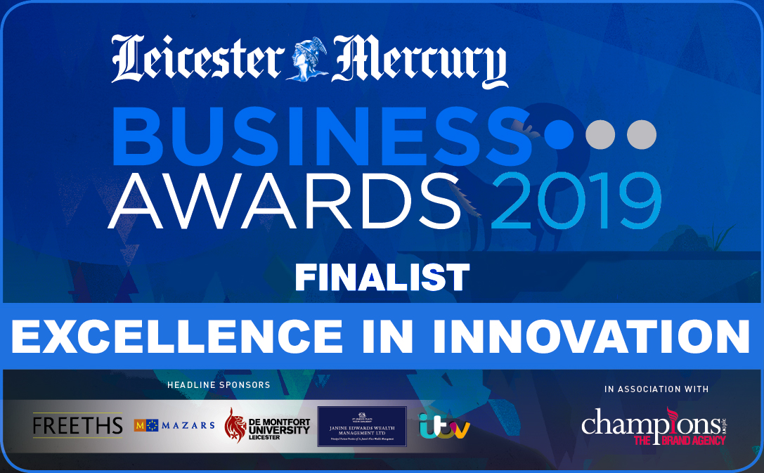 Leicester Mercury Business Award 2019 - Finalist Excellence in innovation