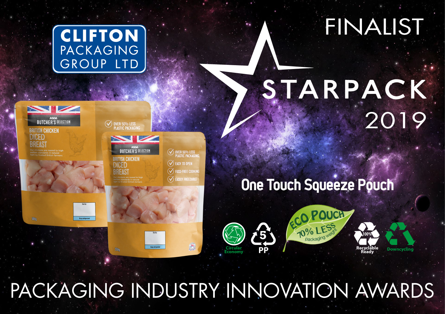 Starpack 2019 Finalist, Clifton Packaging Group